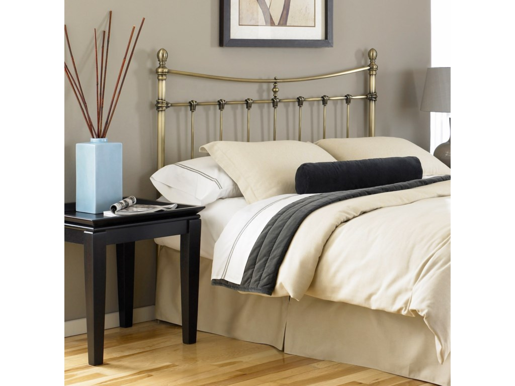 Fashion Bed Group Metal BedsKing Leighton Headboard