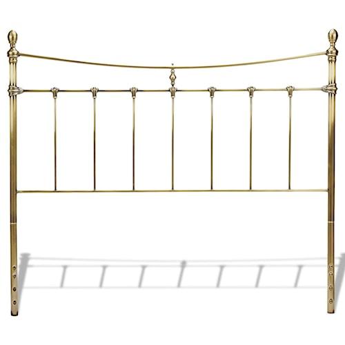 Fashion Bed Group Metal Beds California King Traditional Leighton Metal Headboard