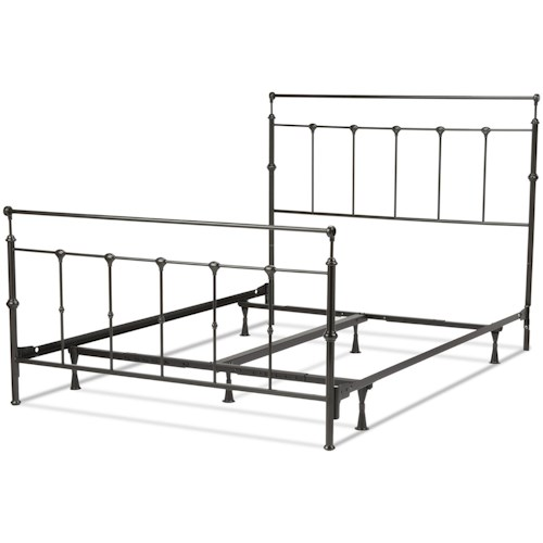 Fashion Bed Group Metal Beds California King Transitional Winslow Metal Ornamental Bed