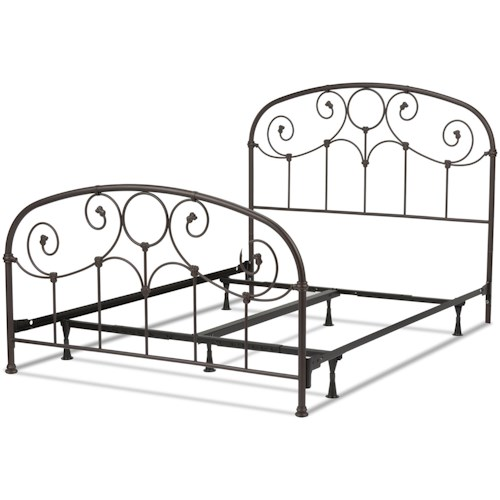 Fashion Bed Group Metal Beds Full Grafton Metal Bed w/ Frame