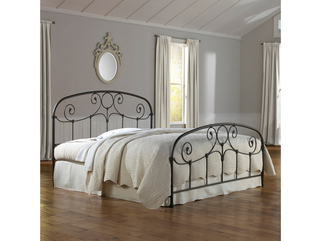 Fashion Bed Group Metal BedsQueen Gregory Bed w/ Frame