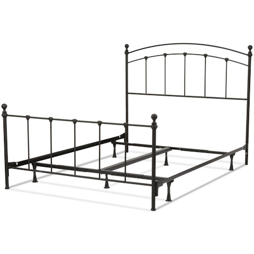 Fashion Bed Group Metal Beds California King Sanford Bed w/ Frame