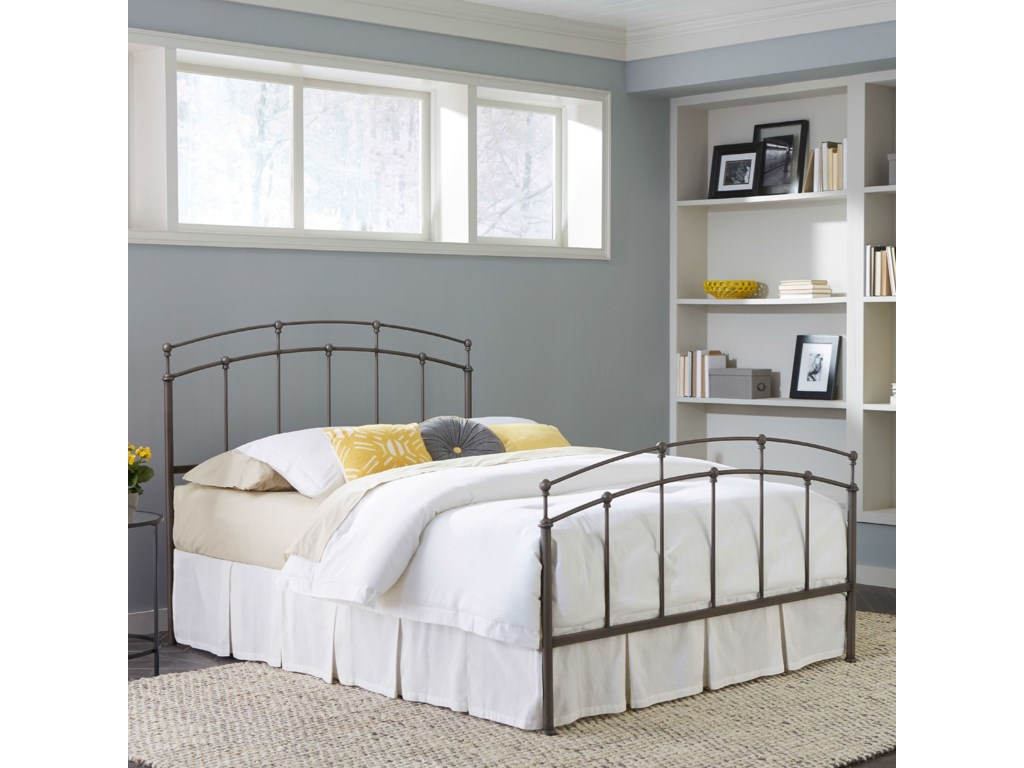 Fashion Bed Group Metal BedsKing Fenton Metal Bed with Frame