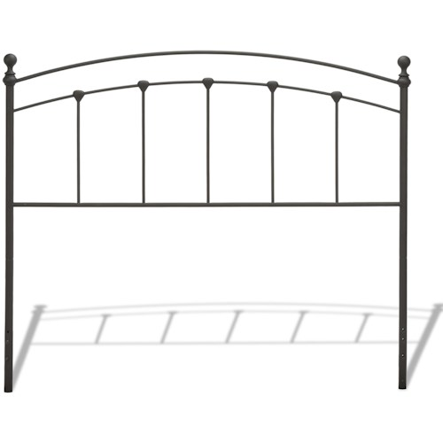 Fashion Bed Group Metal Beds King/California King Sanford Headboard