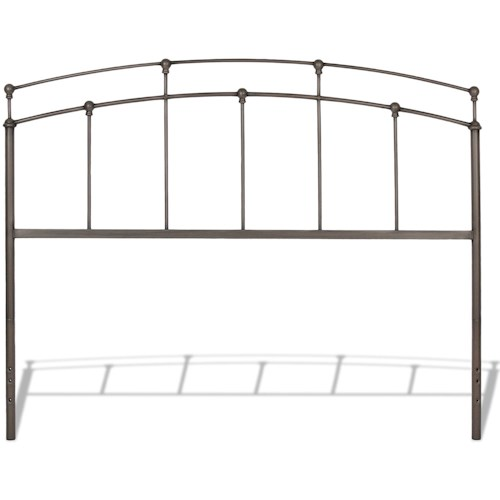 Fashion Bed Group Metal Beds California King Fenton Headboard