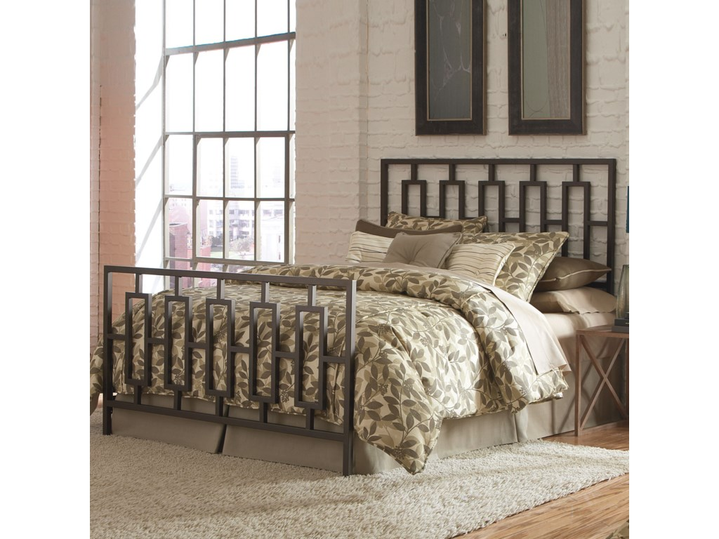 Fashion Bed Group Metal BedsKing Miami Bed