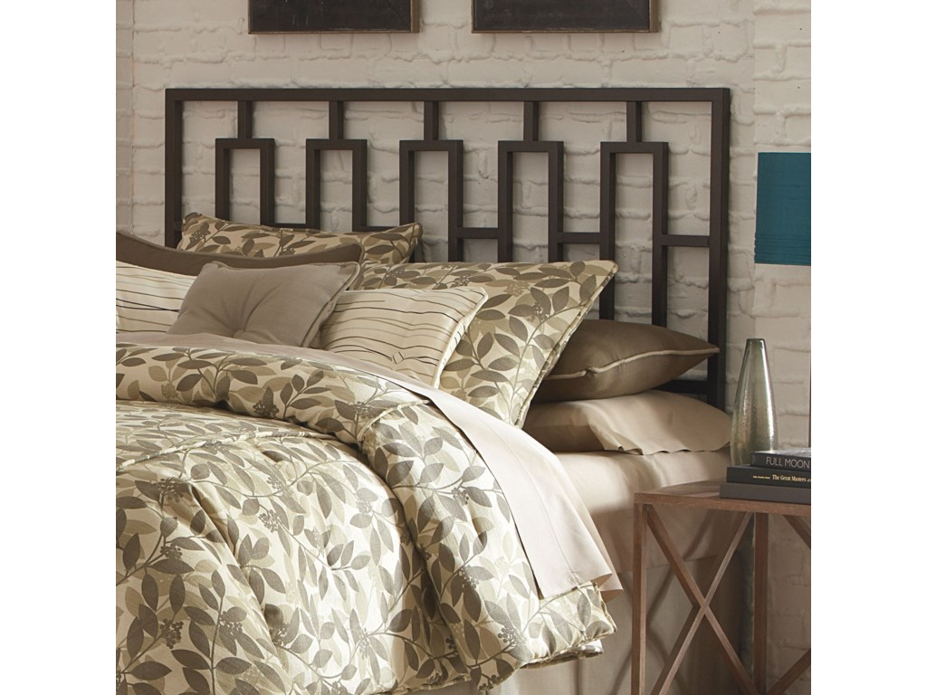 Fashion Bed Group Metal BedsKing Miami Headboard