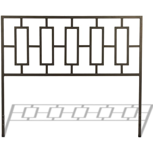 Fashion Bed Group Metal Beds California King Miami Metal Headboard with Squared Tubing and Geometric Design