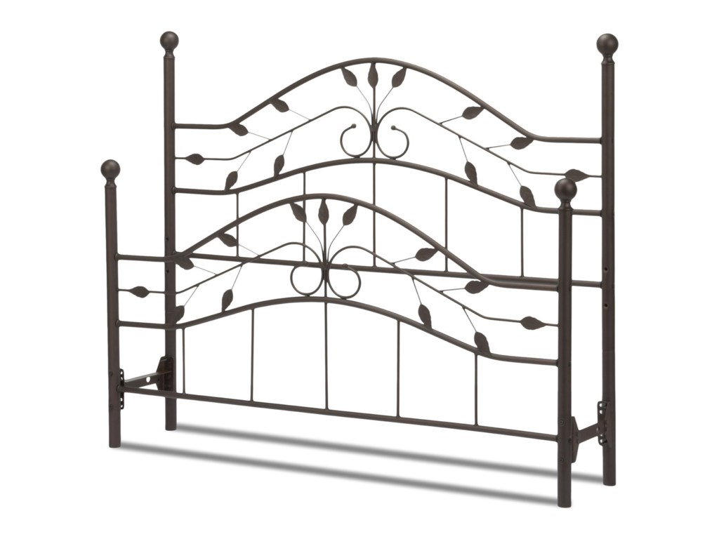 Fashion Bed Group Metal BedsKing Sycamore Headboard and Footboard