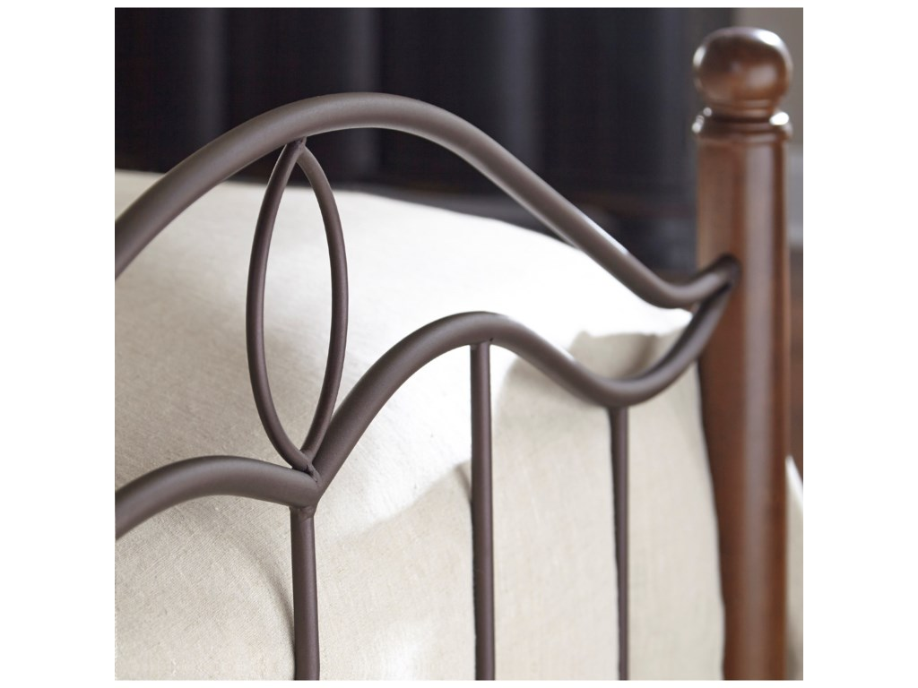 Fashion Bed Group Metal BedsKing Cassidy Headboard and Footboard