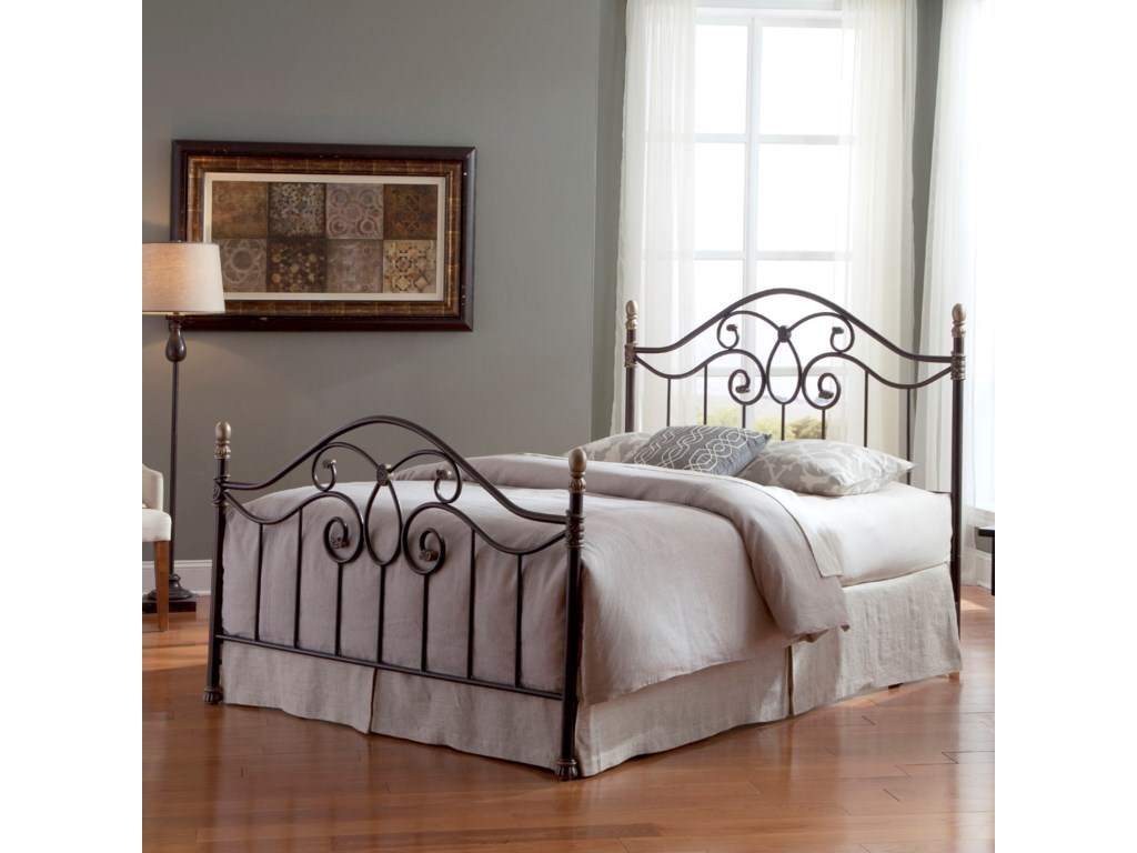Fashion Bed Group Metal BedsQueen Dynasty Metal Bed Without Frame