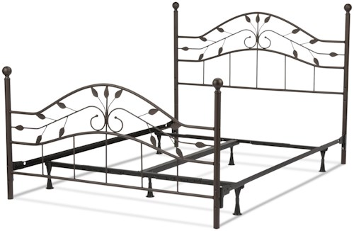 Fashion Bed Group Metal Beds Twin Sycamore Bed w/ Frame