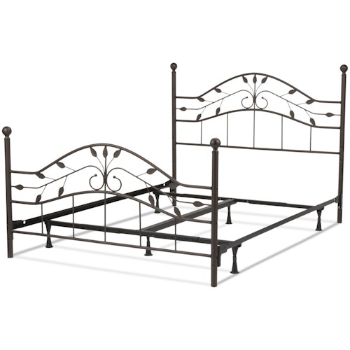 Fashion Bed Group Metal Beds Full Sycamore Bed w/ Frame
