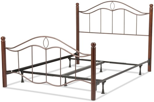 Fashion Bed Group Metal Beds Full Transitional Cassidy Metal Ornamental Bed