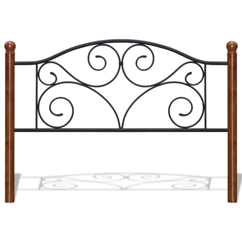 Metal Beds King Transitional Doral Steel And Wood