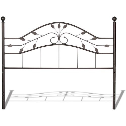 Fashion Bed Group Metal Beds California King Transitional Sycamore Metal Headboard