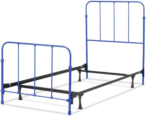 Fashion Bed Group Nolan Nolan Twin Complete Kids Bed with Metal Duo Panels