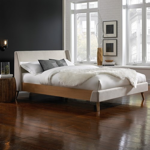 Fashion Bed Group Palmer Palmer California King Platform Bed with Upholstered Exterior
