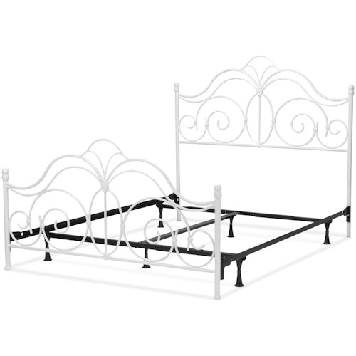 Fashion Bed Group Rhapsody Rhapsody King Bed with Curved Grill Design and Finial Posts