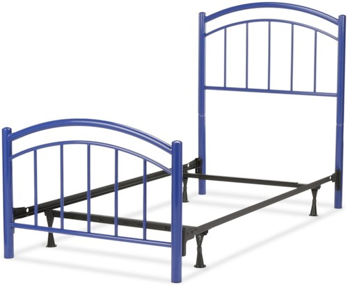 Fashion Bed Group Rylan Full Rylan Complete Kids Bed with Metal Duo Panels