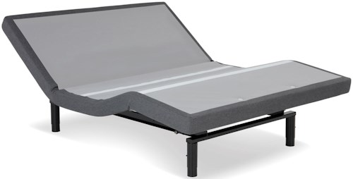 Fashion Bed Group S-Cape+ 2.0 Queen S-Cape+ 2.0 Adjustable Bed Base with 4-Port USB Hub's and Full Body Massage