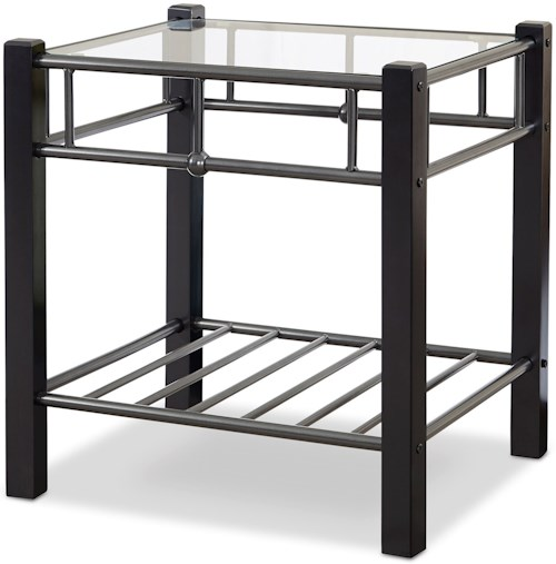 Fashion Bed Group Scottsdale Scottsdale Nightstand with Glass Surface