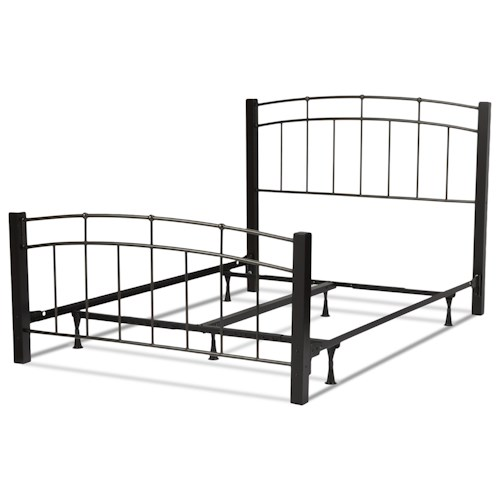 Fashion Bed Group Scottsdale Scottsdale California King Bed with Metal Duo Panels and Dark Espresso Wooden Posts