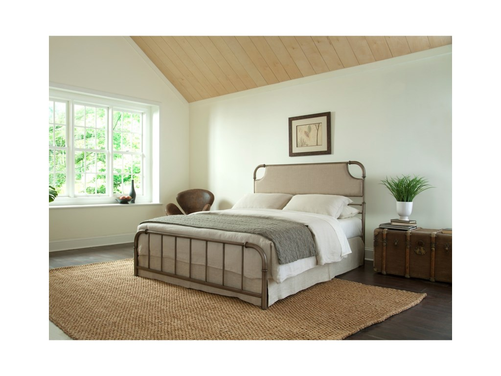 Fashion Bed Group Snap BedsFull Metal and Fabric Snap Bed