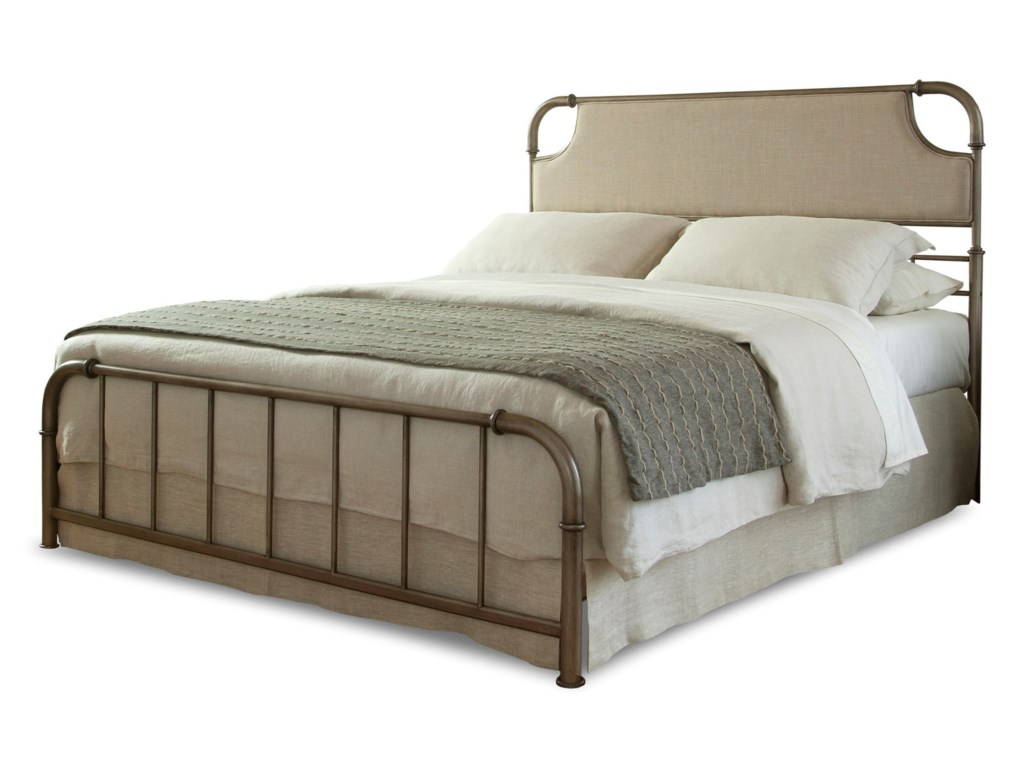 Fashion Bed Group Snap BedsQueen Metal and Fabric Snap Bed