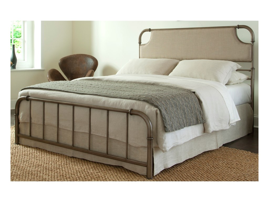 Fashion Bed Group Snap BedsKing Metal and Fabric Snap Bed