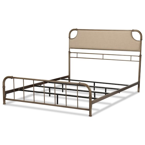 Fashion Bed Group Snap Beds California King Metal and Fabric Snap Bed with Aged Iron Finish