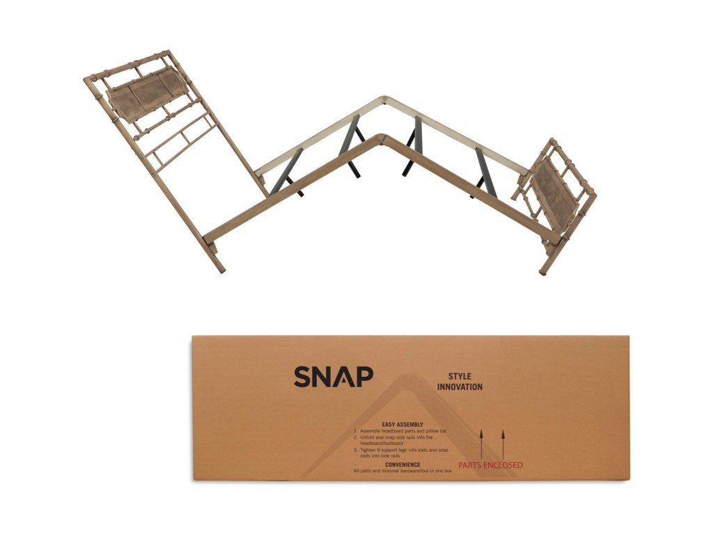 Fashion Bed Group Snap BedsQueen Metal Snap Bed