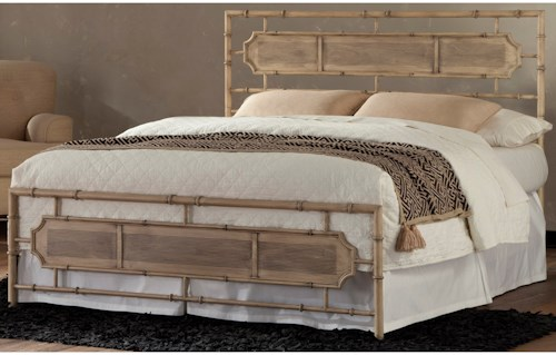 Fashion Bed Group Snap Beds Coastal California King Metal Snap Bed with Desert Sand Finish