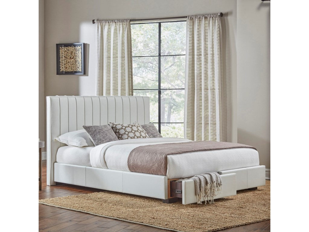 Fashion Bed Group Storage Beds California King Delaney Storage Bed ...
