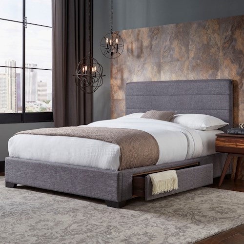 Fashion Bed Group Storage Beds Oliver King Storage Bed