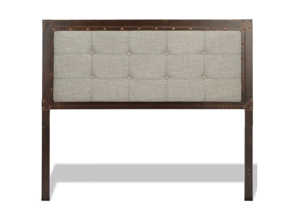 Fashion Bed Group Upholstered Headboards and BedsQueen Metal & Fabric Gotham Bed