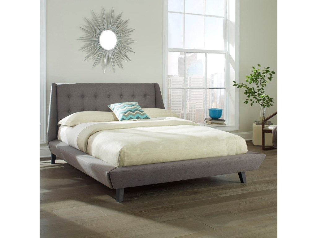 Fashion Bed Group Upholstered Headboards and BedsCal King Prelude Platform Bed