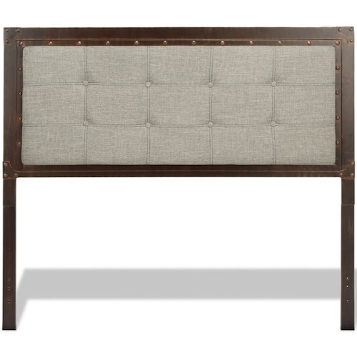 Fashion Bed Group Upholstered Headboards and Beds Queen Gotham Headboard