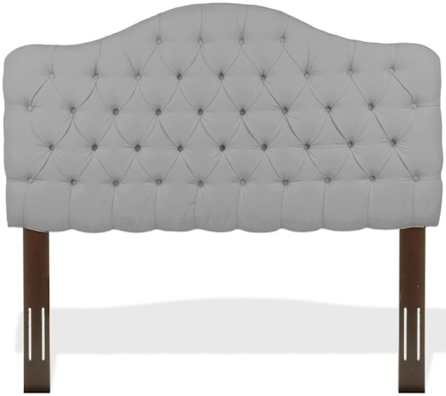 Fashion Bed Group Upholstered Headboards and Beds Full/Queen Martinique Headboard with Tufting