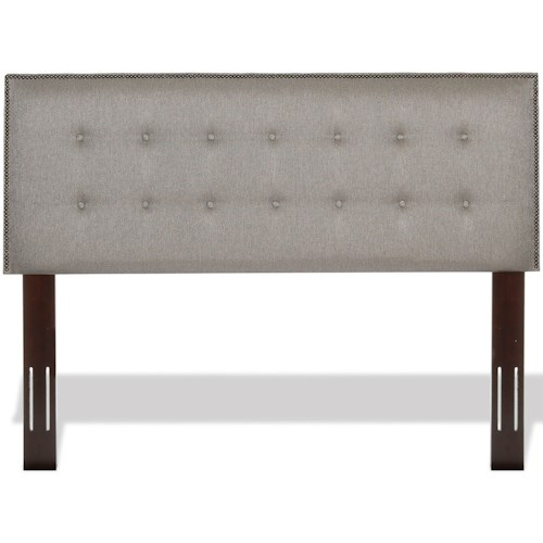 Fashion Bed Group Upholstered Headboards and Beds Full / Queen Easley Wood and Fabric Headboard