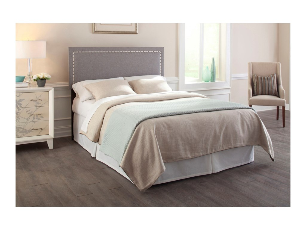Fashion Bed Group Upholstered Headboards and BedsKing / Cal King Wood and Fabric Headboard