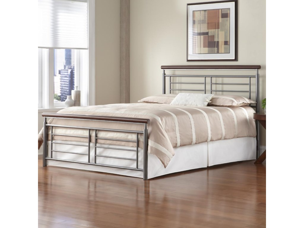 Fashion Bed Group Wood and Metal BedsQueen Fontane Bed without Frame