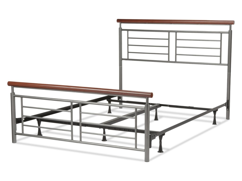 Fashion Bed Group Wood and Metal BedsQueen Fontane Bed