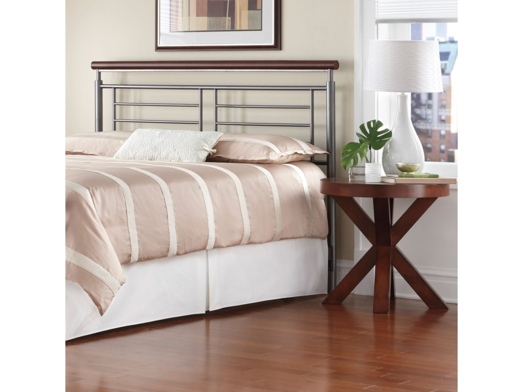 Fashion Bed Group Wood and Metal BedsKing Fontane Headboard