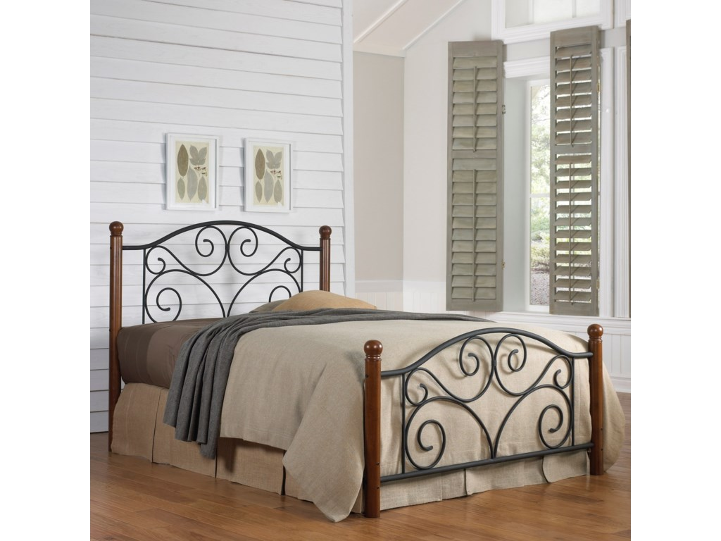Fashion Bed Group Wood and Metal BedsFull Doral Headboard and Footboard