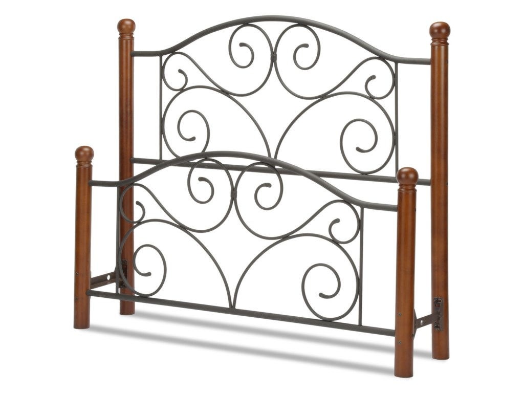 Fashion Bed Group Wood and Metal BedsQueen Doral Headboard and Footboard