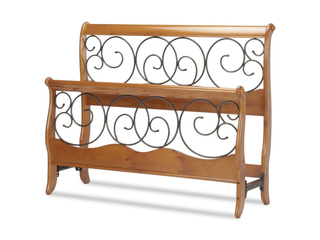Fashion Bed Group Wood And Metal Beds California King Dunhill