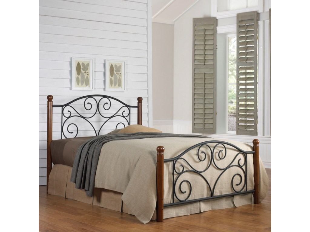 Fashion Bed Group Wood and Metal BedsFull Doral Bed w/ Frame