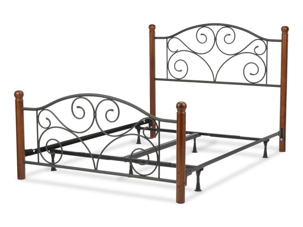Fashion Bed Group Wood and Metal BedsQueen Doral Bed w/ Frame