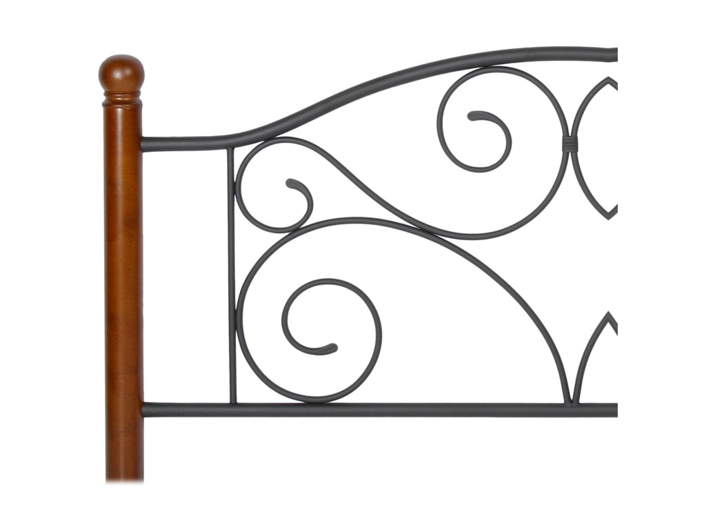 Fashion Bed Group Wood and Metal BedsTwin Doral Headboard